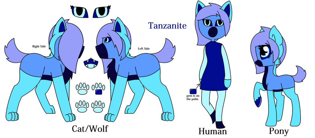 Tanzanite Ref Sheet by KittyStar9