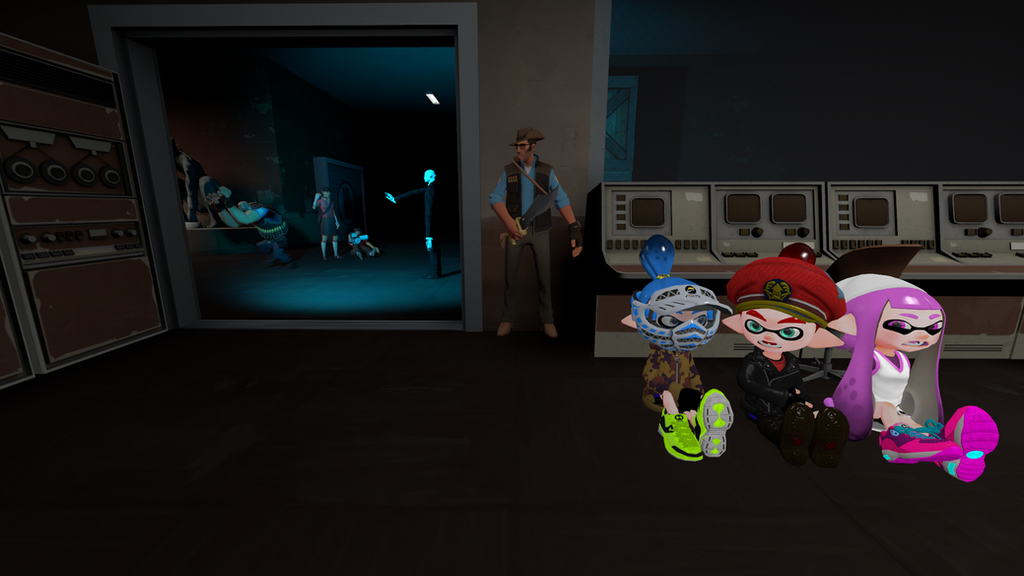 Me Emily and Sean play Slender Fortress 2 by superneung47