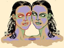 Twin sisters by lienertje