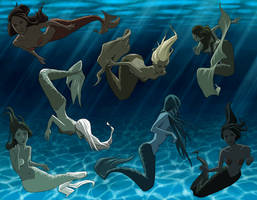 Mermaids by tamiart