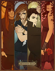 The Cast of Wooden Rose by tamiart