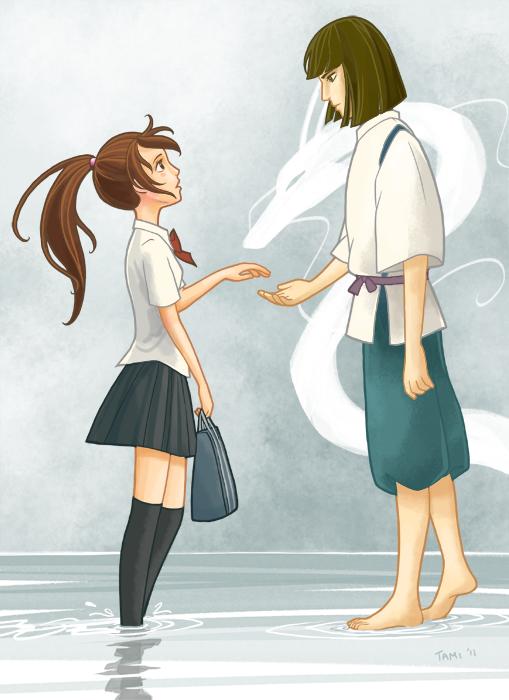 spirited away chihiro and haku meet again someday