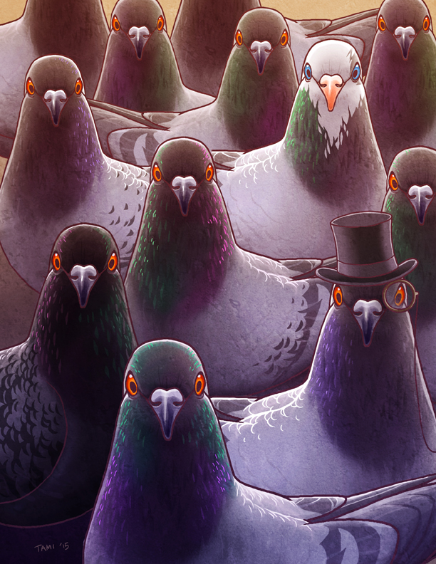 Pigeons by tamiart
