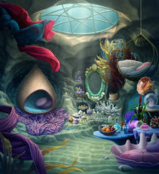 Mermaid Room by tamiart