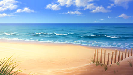 Long Island Beach by tamiart