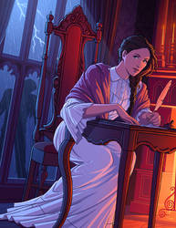 Mary Shelley by tamiart