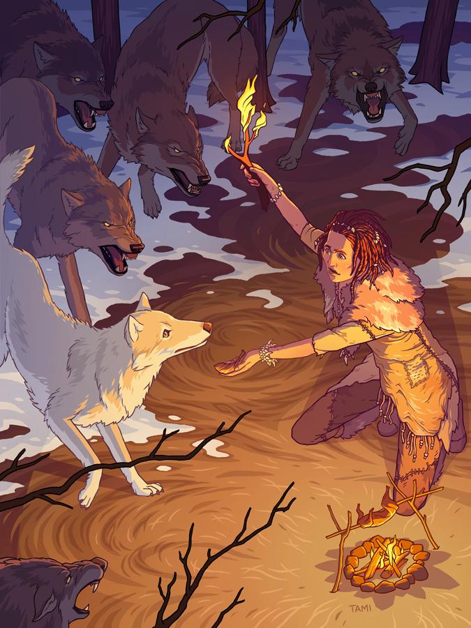 Origin of Man's Best Friend by tamiart