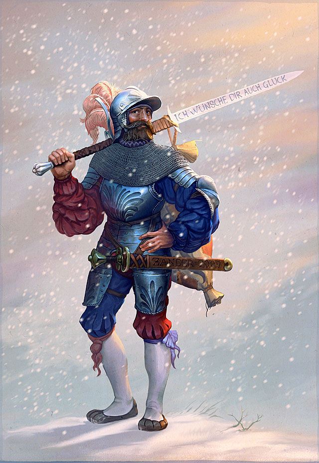 The New Year's Landsknecht by CG-Zander