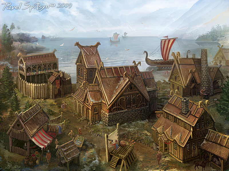 Location northern village by CG-Zander