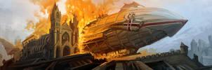 Fiery sky by CG-Zander