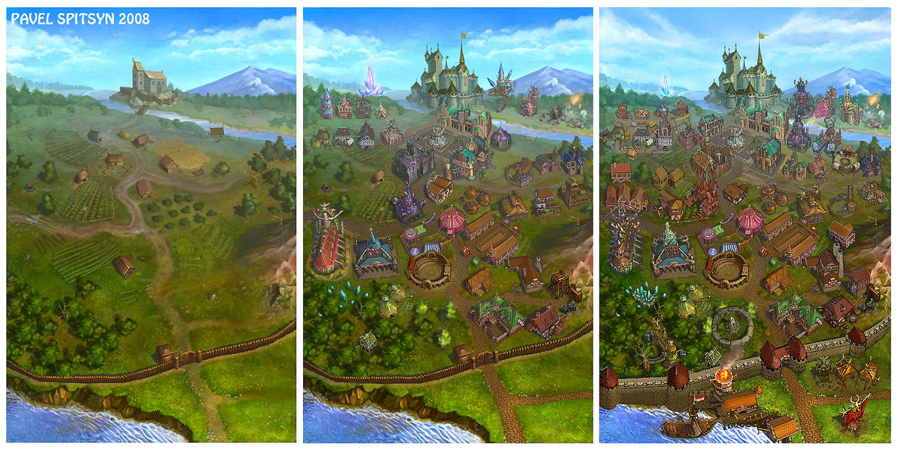 Eador. Concept of the city. by CG-Zander