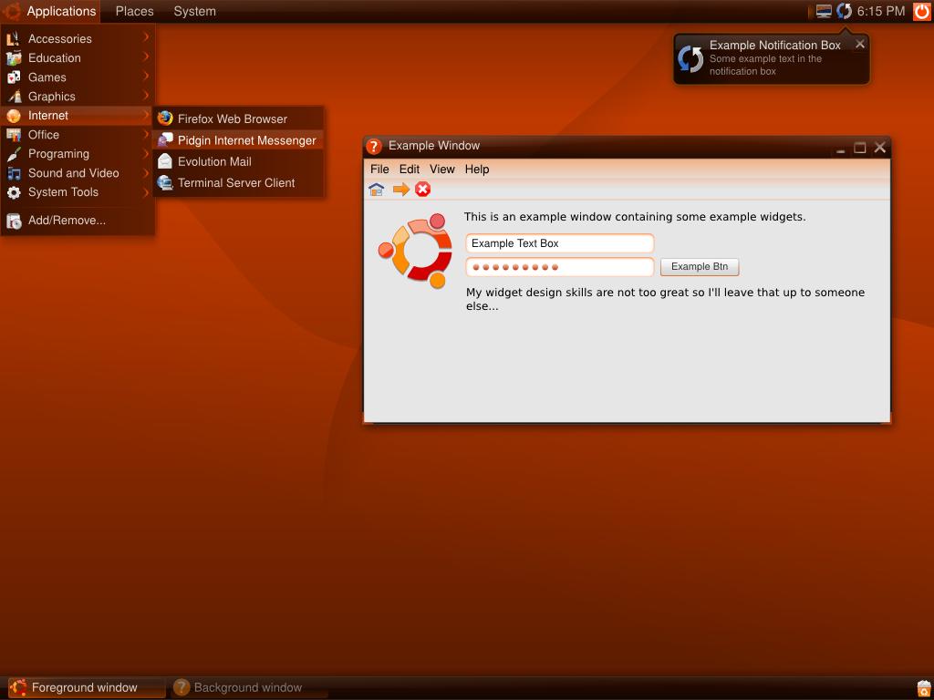 ubuntu 8 04 gui design idea by mossblaser on deviantart
