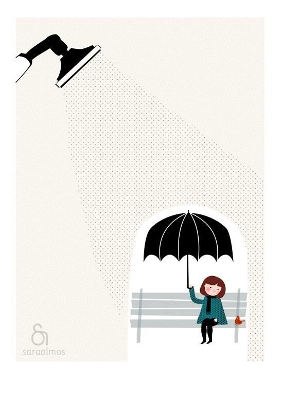 Sous la pluie by teconlene
