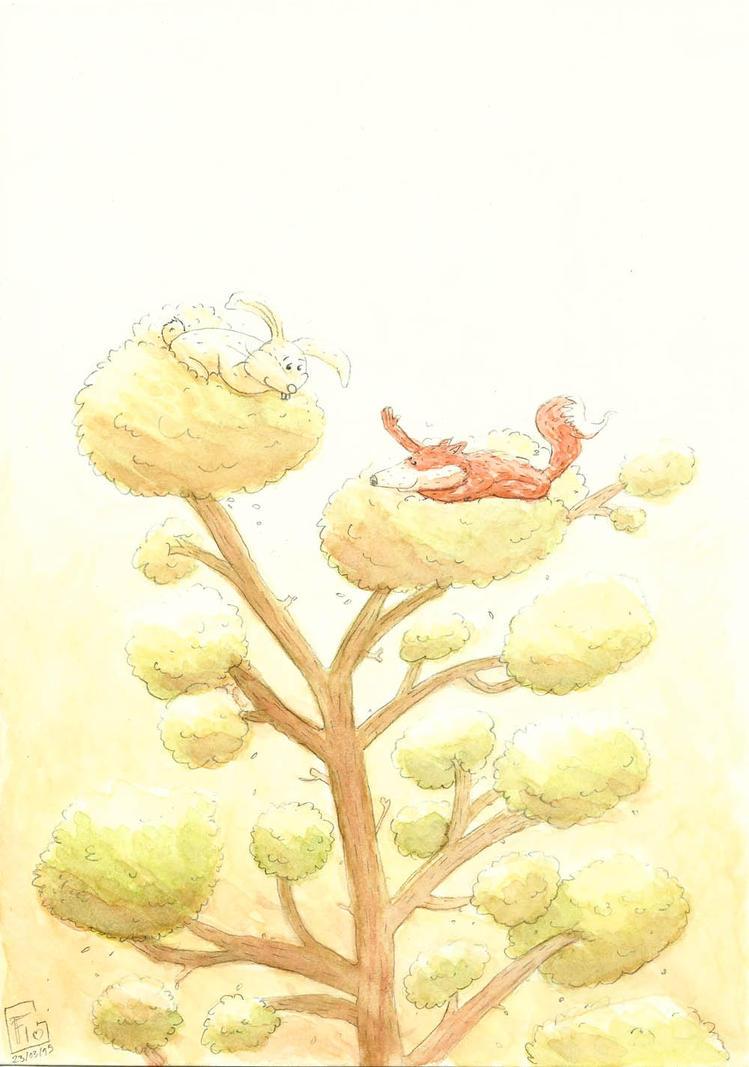 Rabbit and fox love - 5 - by Inkaeo