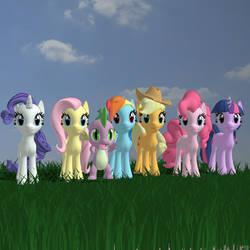 My Little Pony Friendship is Magic by Bluedragon85