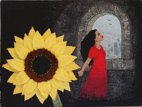 A Sunflower in Gormenghast