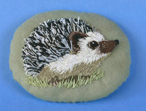 Stumpwork Hedgie