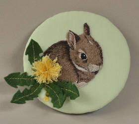 Bunny and dandelion