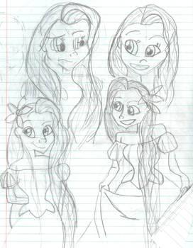 Rapunzel sketches
