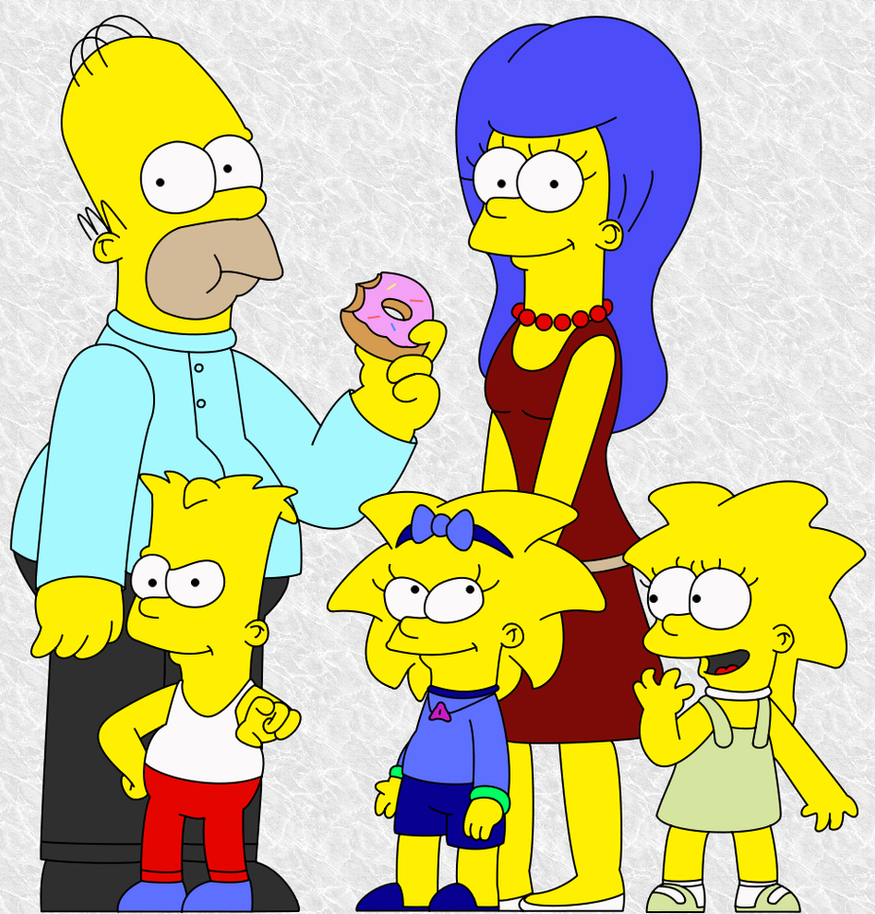 TOAS The Simpsons-main family by SuperKoopaTroopa