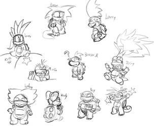 Koopa doodles by SuperKoopaTroopa