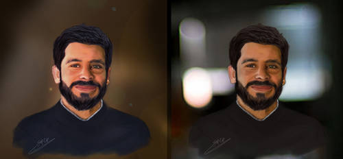 First Portrait - Digital Painting by mujahed188