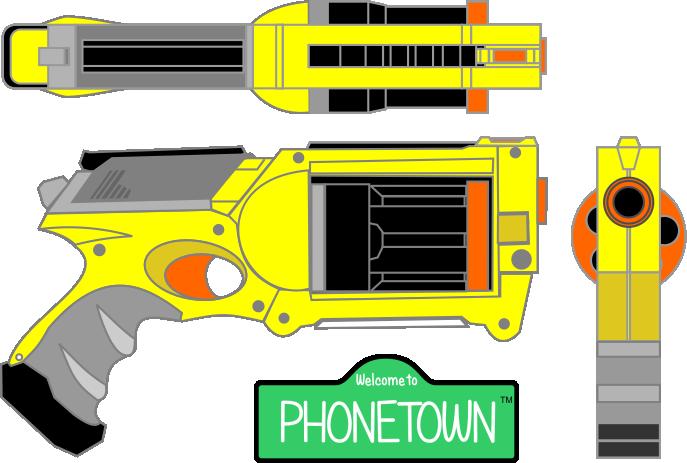 Nerf Gun Isometric by chrisharden