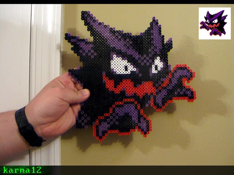 Pokemon Haunter [Perler Art] by karma12gaming