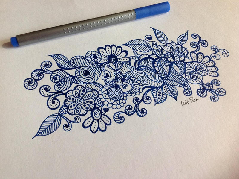 Scribble Drawing Meaning : Doodle flower by iamlulupark on deviantart