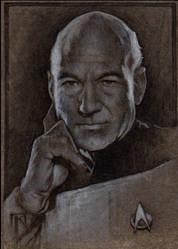 Captain Jean-Luc Picard (Patrick Stewart) by jimkilroy