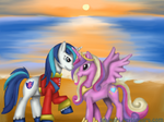 Shining Armor and Cadence