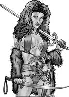 CAC-Barbarian Woman Warrior-F-BKM-lo by BKMcDevitt