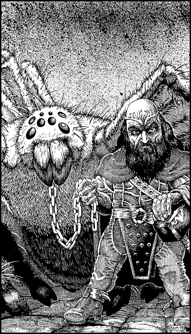 CAC359-Evil-Dwarf-With-Pet by BKMcDevitt