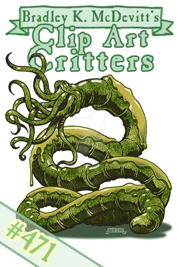 Clipart Critters 471- Cthonian Wyrm by BKMcDevitt