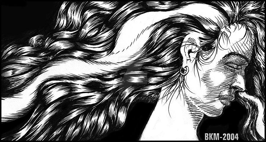 CAC77-Flowing Hair-BKM by BKMcDevitt