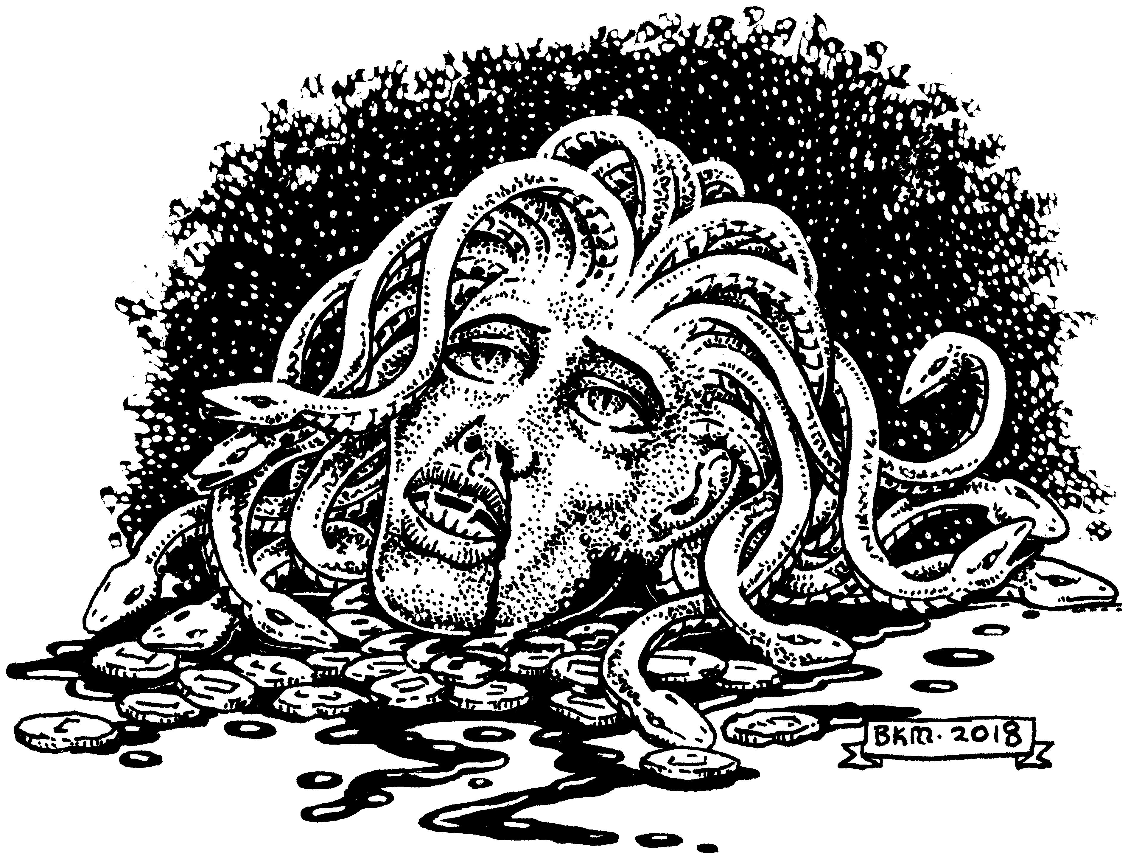 CAC530-Decapitated Medusa by BKMcDevitt