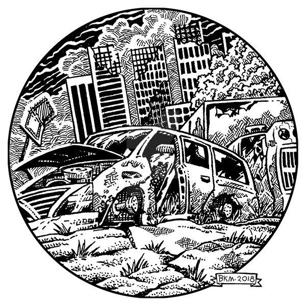 PMS-Broken Wrecked Car-F-BKM-lo by BKMcDevitt
