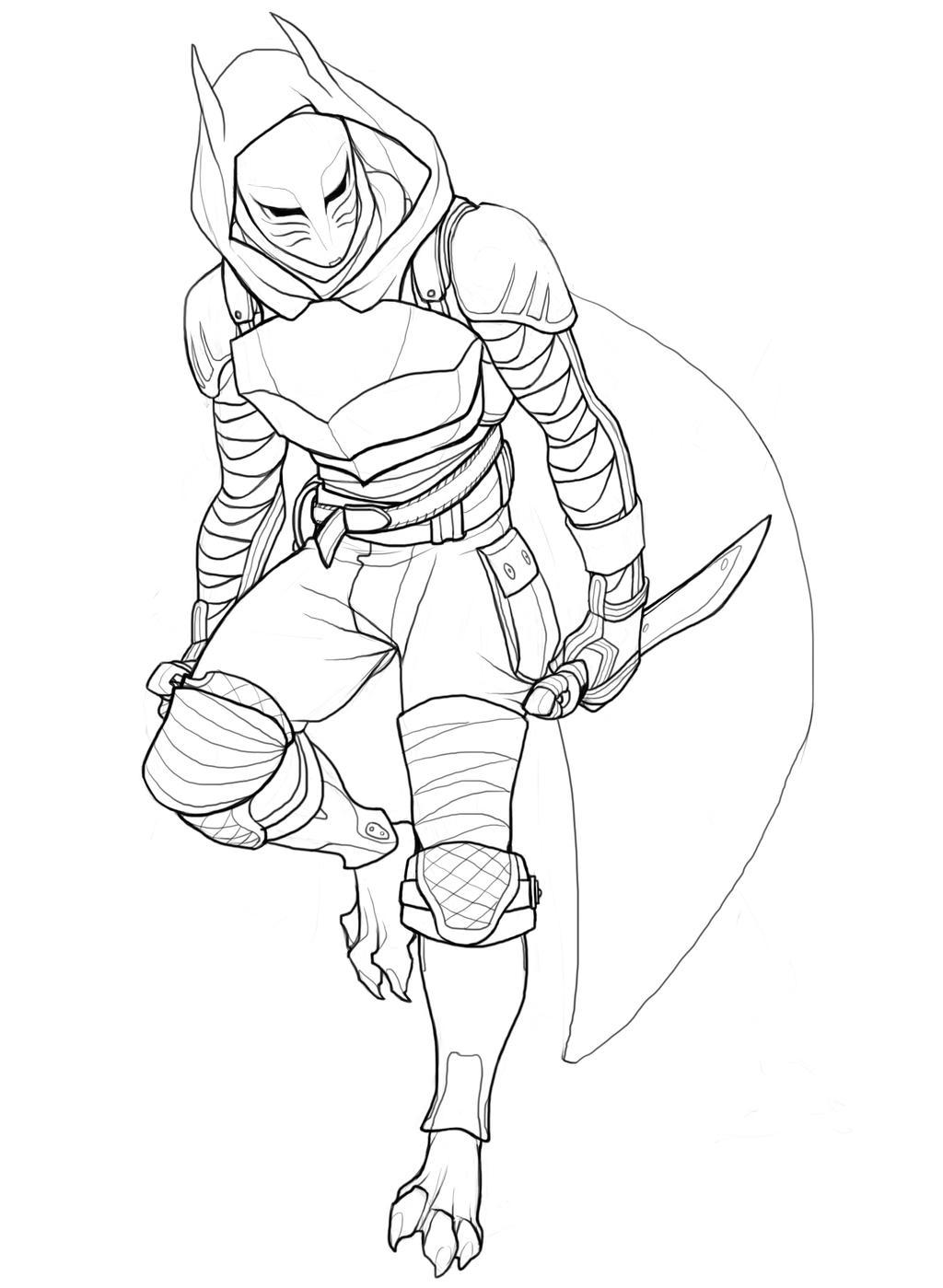 Fan Blade Outline : Blade dancer by yosh on deviantart
