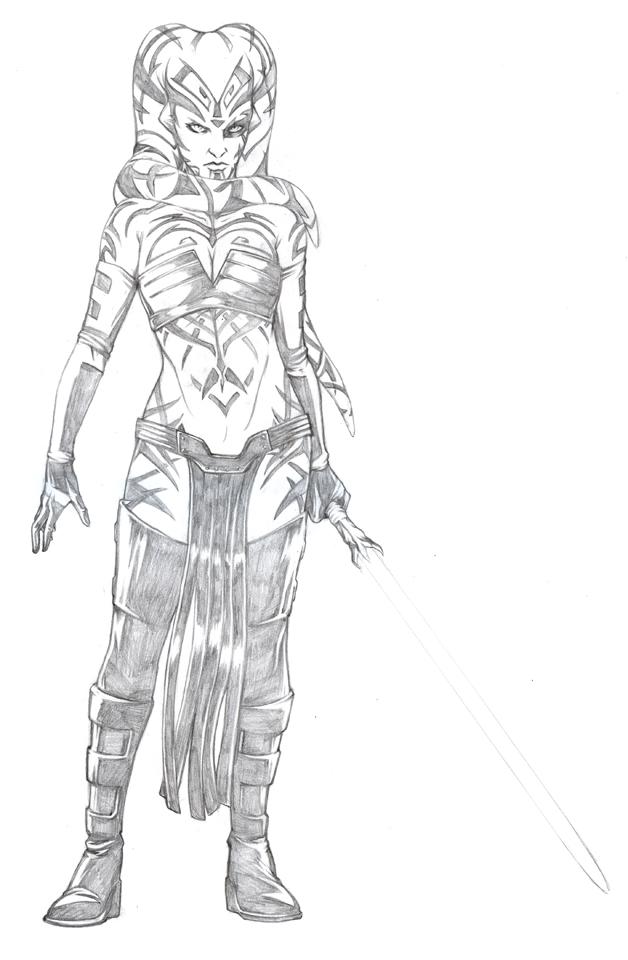 Darth Talon - Pencils by jpc-art