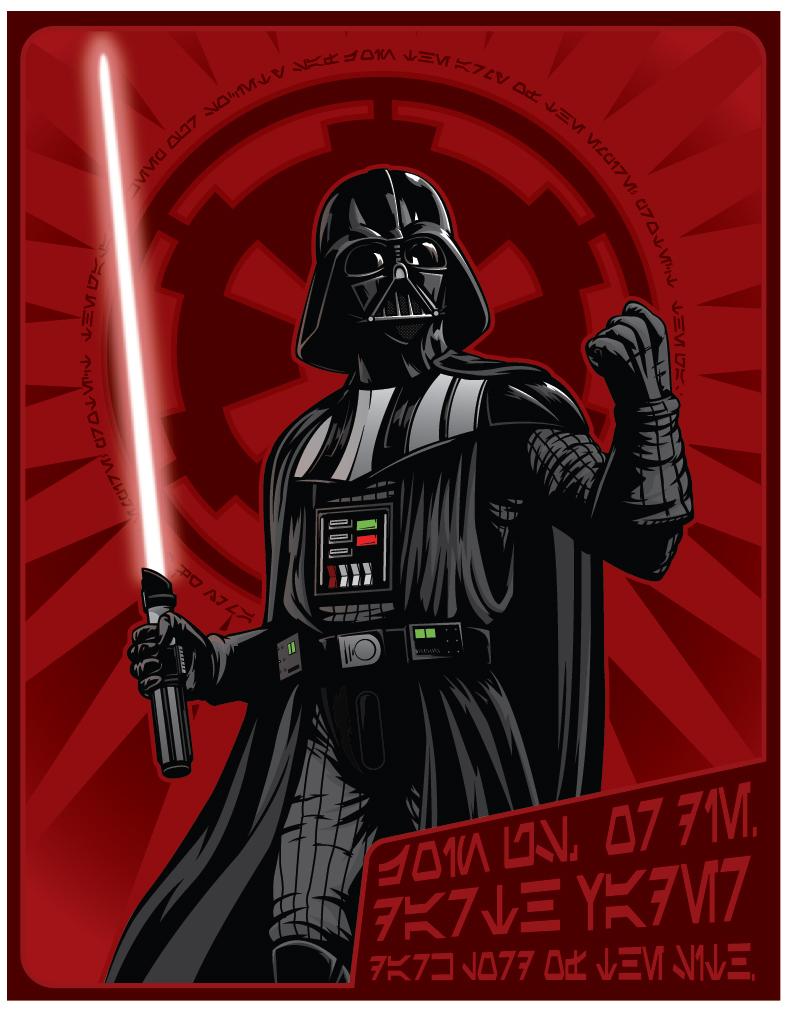 Darth Vader Propaganda Poster by jpc-art