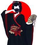 Ohaguro Bettari: Japanese Mythology (PRINT) by Wolf-Fram