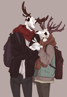 Doodle #43 (Swallow and Deer) by Wolf-Fram