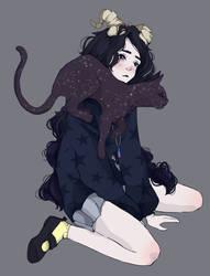 Doodle #56 (Luna and Vega) by Wolf-Fram