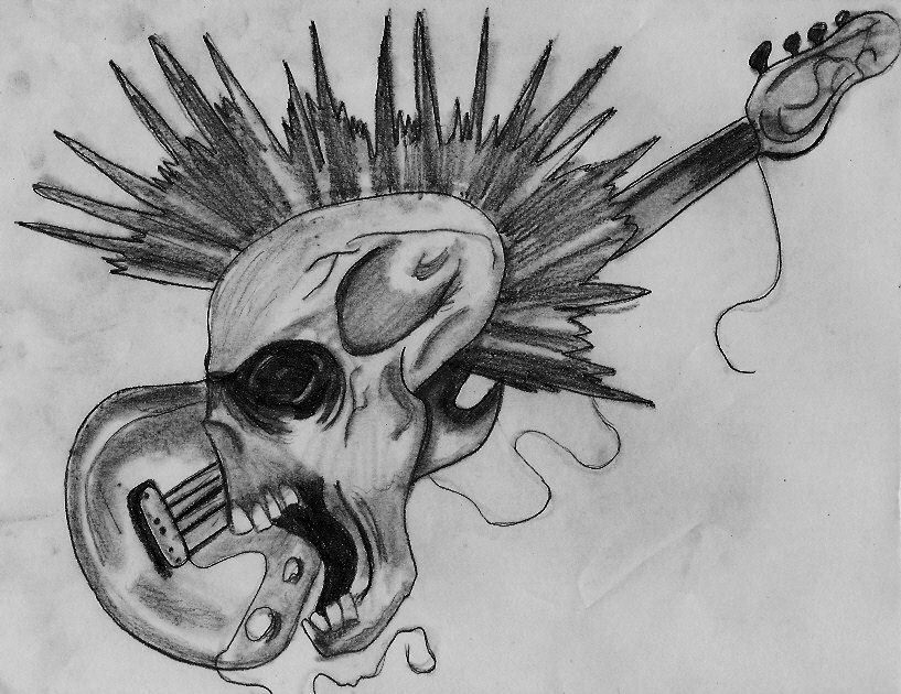 Metalhead tattoo by ~spongy-tweety on deviantART