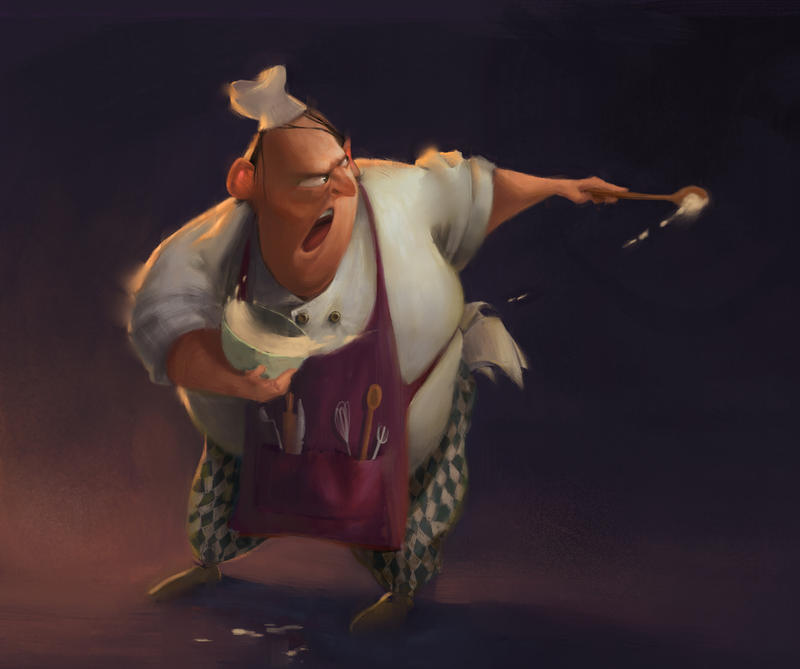Angry Chef by tomvanrheenen