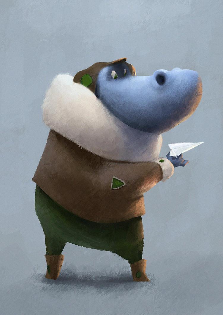 Pilot Hippopotamus by tomvanrheenen
