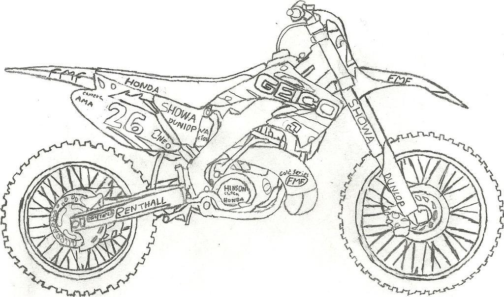 honda 250 drawing