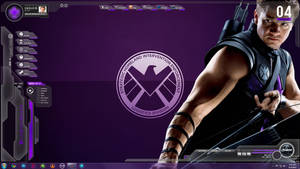 SHIELD Avengers Rainmeter - Hawkeye (Agent Barton)