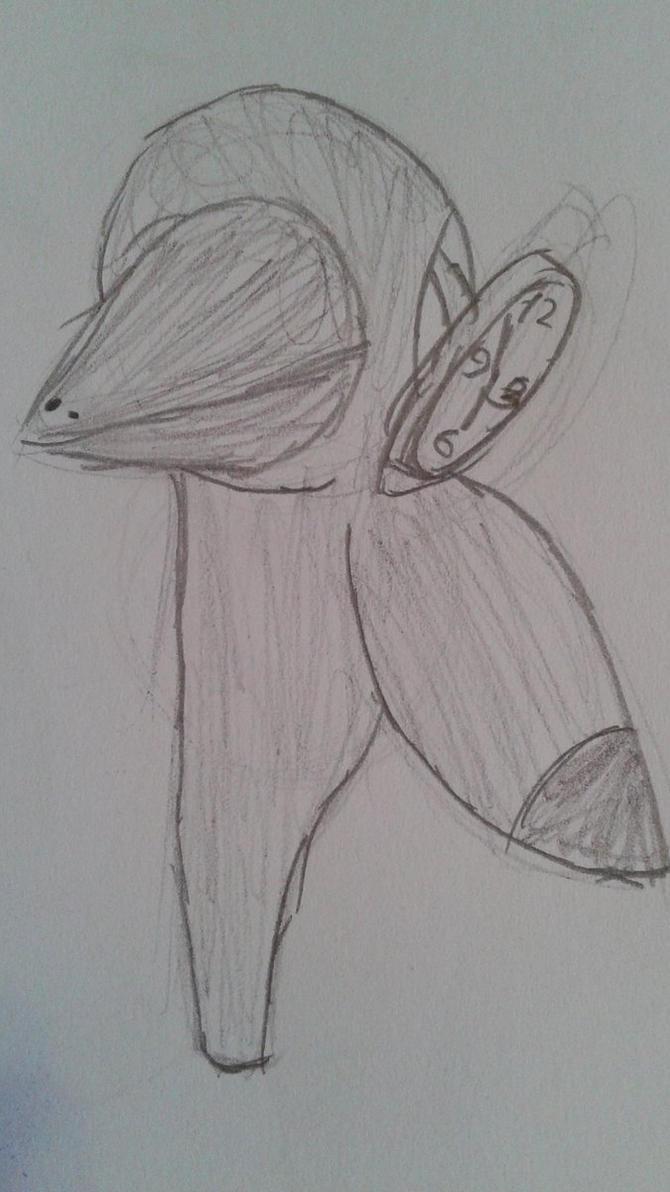 Clock-eyed bird 2 by TheGamedawg