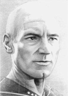 Picard ACEO mini-portrait